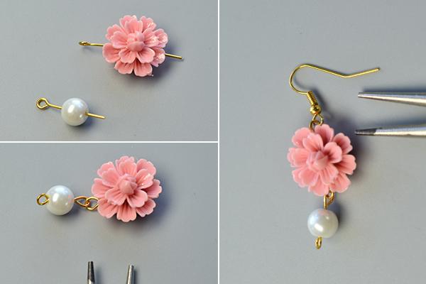 Perles accesoires tuto de fabriquer boucles d oreilles avec cabochon - Tuto boucle d oreille perle ...