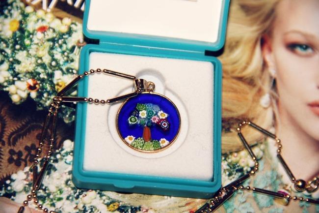 Antica Murrina Veneziana ogrlica sa plavim medaljonom