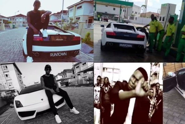 "Runtown mocks ""haters"" as he acquires a Lamborghini"