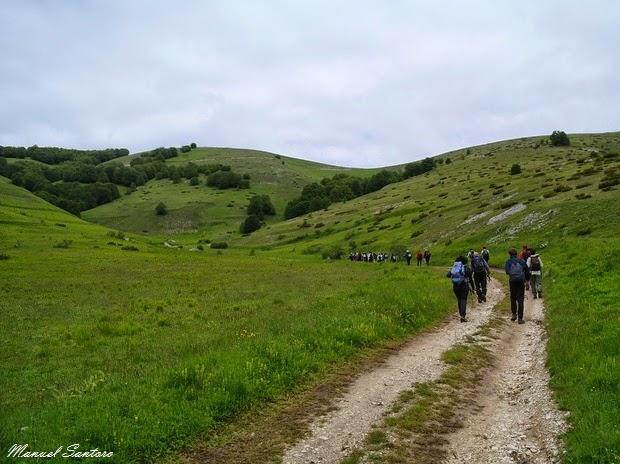 Salendo verso Serra Sparvera