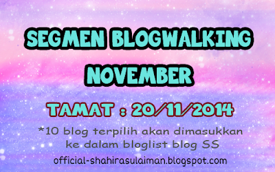 SEGMEN BLOGWALKING NOVEMBER