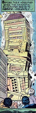 Justice Inc #2 collapsing skyscraper, Jack Kirby
