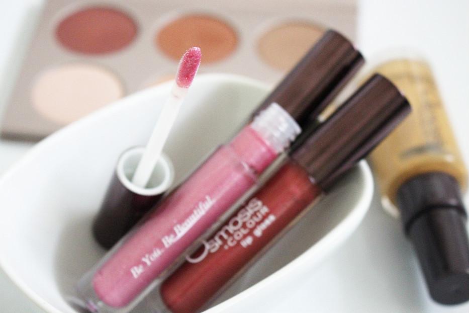 osmosis lip gloss, gluten-free lip gloss, osmosis lip gloss swatch