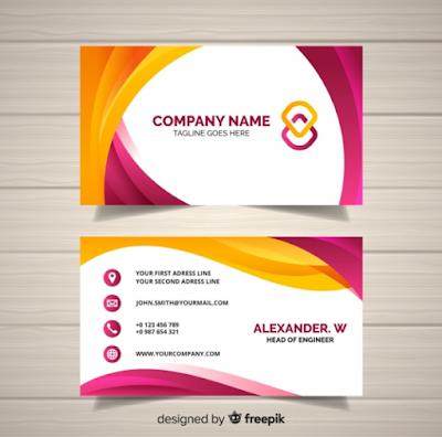 Contoh Kartu Nama - Modern Business Card Designs