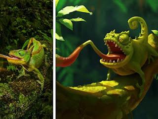 Ilustrador transforma fotos da vida selvagem em desenhos digitais e o resultado é adorável