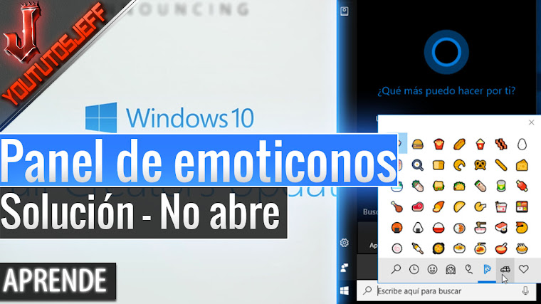 Como abrir el panel de emoticonos de Windows 10 Fall Creators Update - Solución