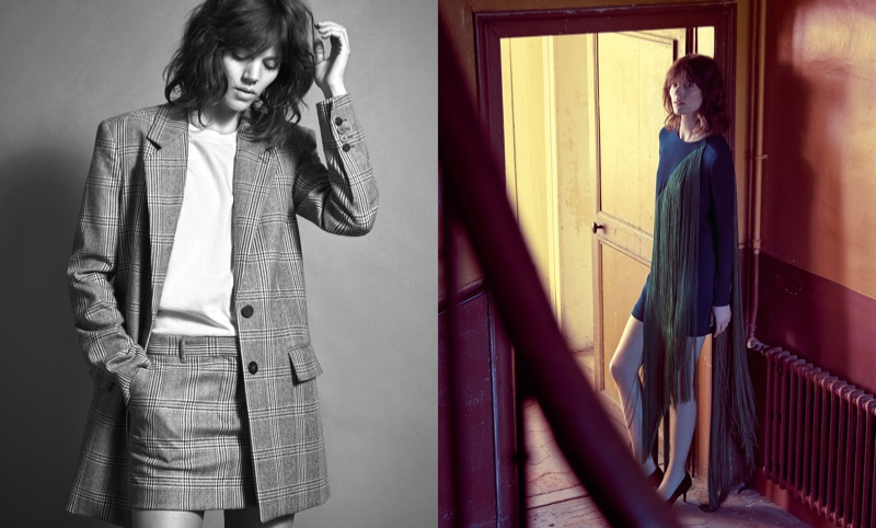 Freja Beha Erichsen appears in Mango's fall-winter 2017 campaign