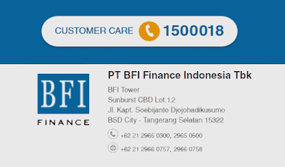 nomor telepon dan customer care bfi finance