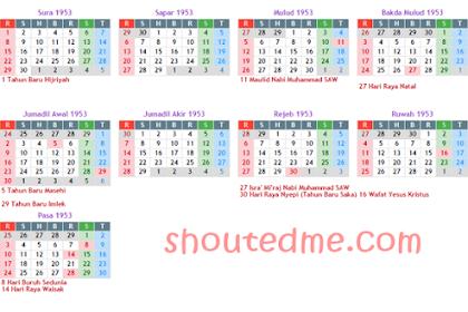 Kalender Jawa Maret 2019 Lengkap