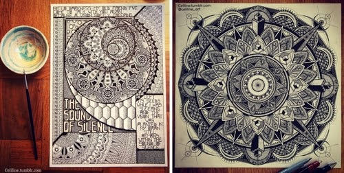 00-Celine-Silence-Lines-Art-Mandalas-Zentangles-and-Stippling-Drawings-www-designstack-co