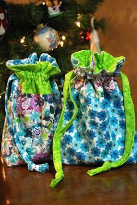 cloth sewn gift bags