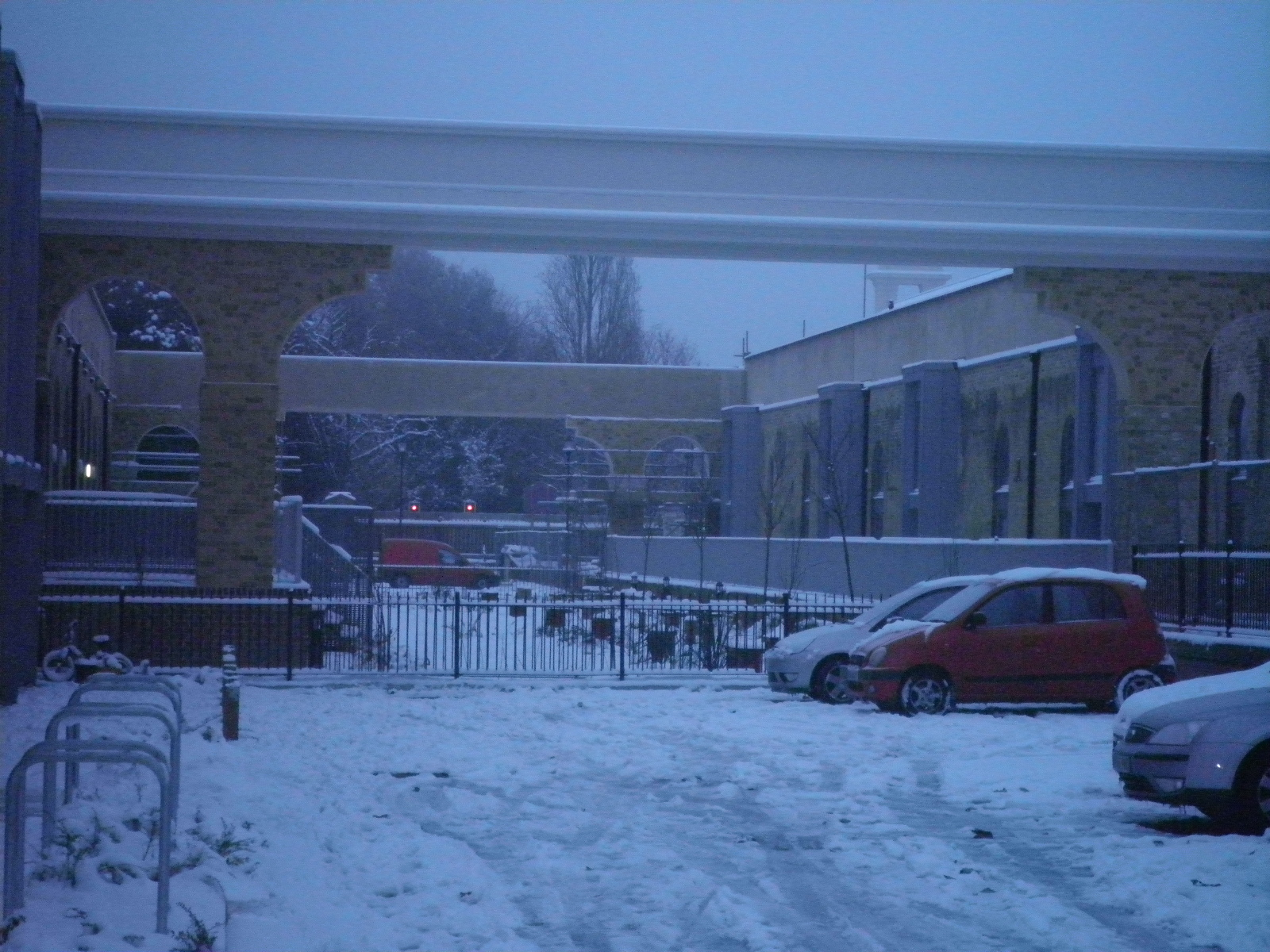 Gosport station in the snow
