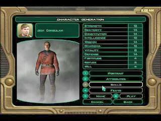 Creazione personaggio Knights of the Old Republic