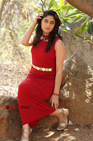 Telugu Actress Zahida Sam Latest Pos in Red Gown at RF Films New Movie Opening  0259.JPG