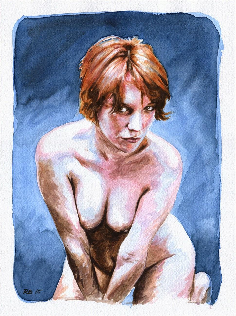 René Bui - Etude de nu à l'aquarelle 150115 - 2015