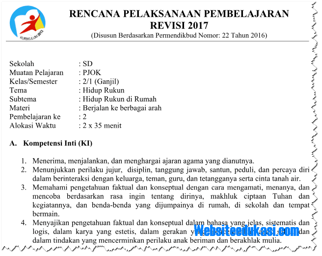 free download rpp penjas sd kurikulum 2013 pdf