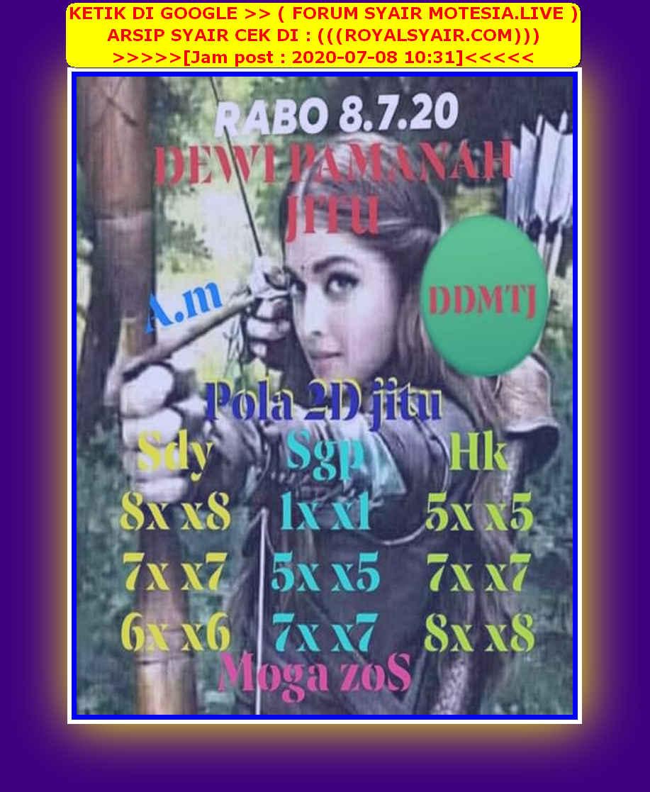 Kode syair Sydney Rabu 8 Juli 2020 58