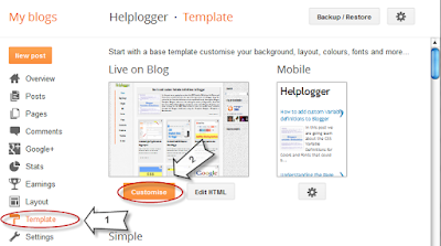 como usar css no template pelo designer do template blogger
