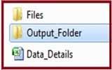 Output Folder for create folders