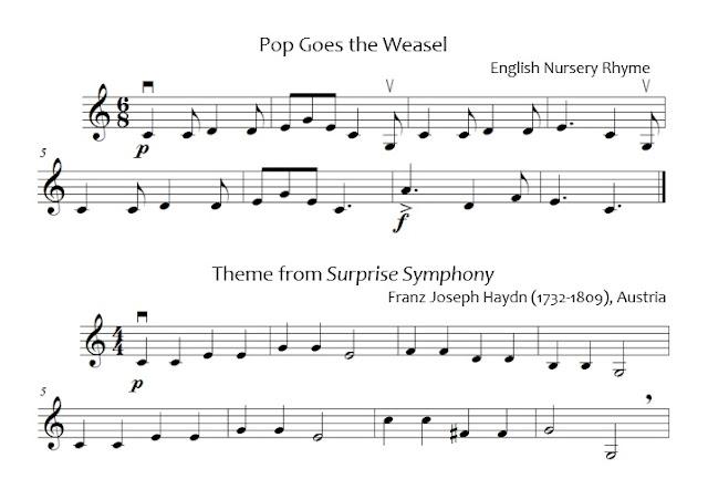 C Major packet repertoire beginning orchestra