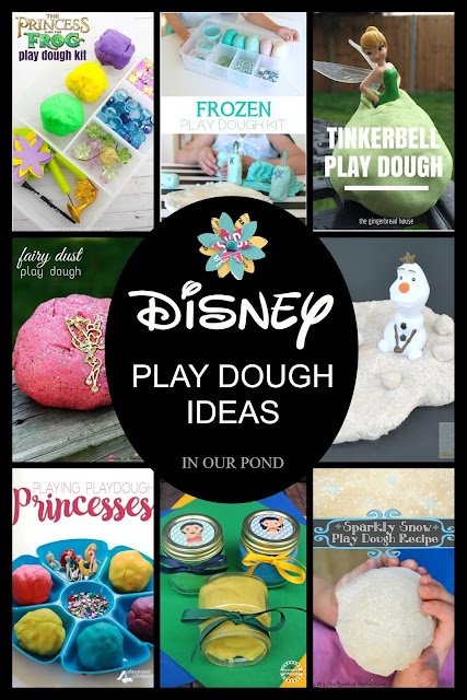 Easy and Magical Disney PRINCESSES Play Dough Ideas // In Our Pond // Star Wars Week // May the Fourth // disney // playdoh // busy box // quiet time // quiet play // play dough kit