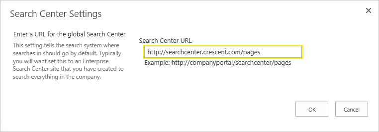 sharepoint 2013 default search center