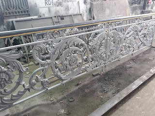 Railing, Tangga, Balkon, Besi, Tempa, Klasik, Mewah