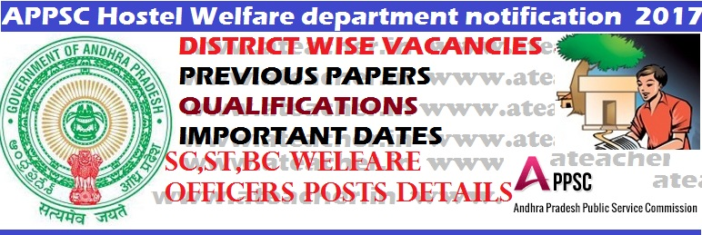 APPSC-Hostel-Welfare-dept-notification-2017-Andhra-Pradesh-PSC-129-jobs-notification-psc.ap.gov.in