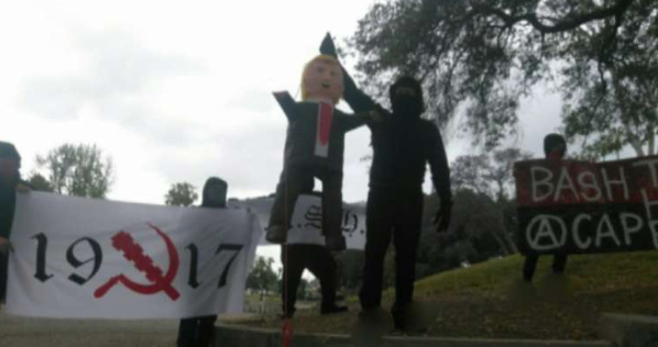 L.A. Antifa Group Hangs Trump in Effigy, Calls for 'Revolutionary Violence' Against 'the Capitalist State'