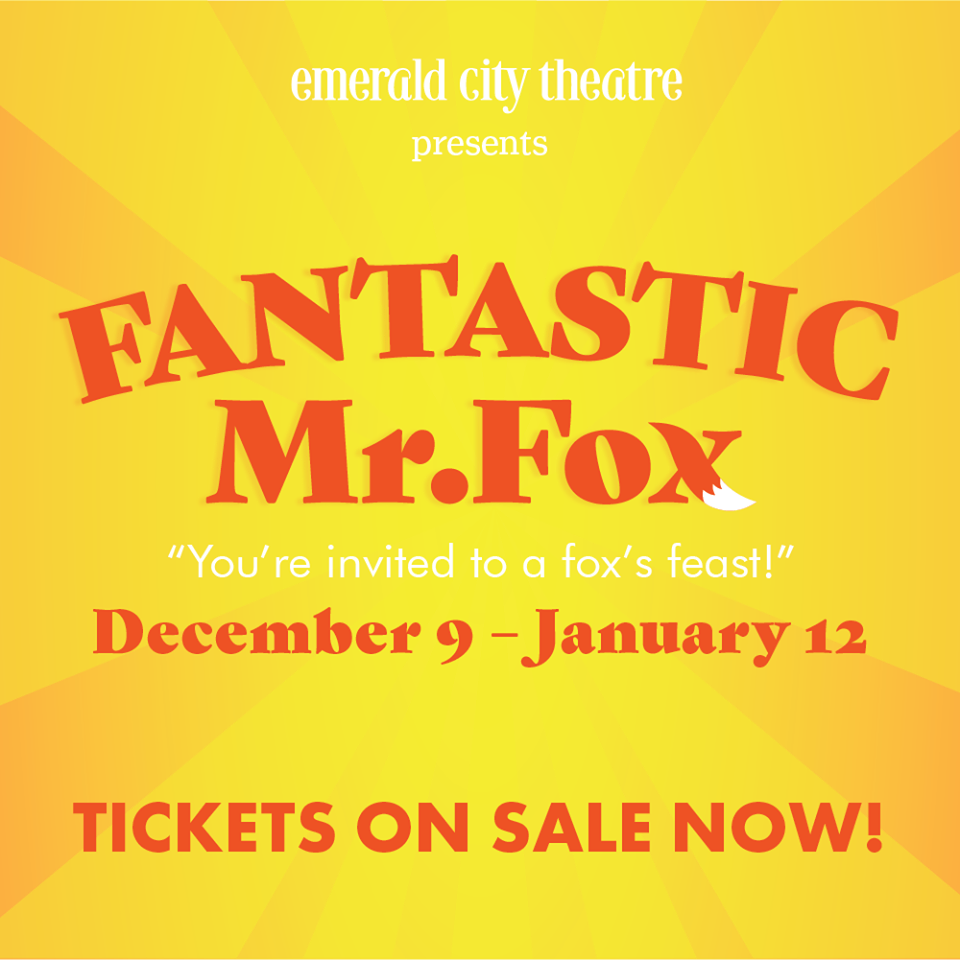 Out of 275 entries Congrats to Melissa P, WINNER of 4 Tickets to Emerald City's Fantastic Mr. Fox