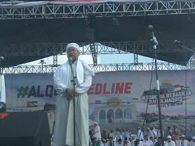 Aksi Bela Palestina, Ustad Zulkifli : Barometer keimanan seseorang adalah hati yang terkait dengan Palestina, bukan mekah dan Madinah