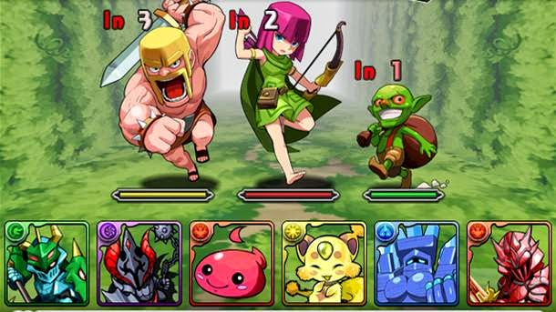android, coc, Puzzle & Dragons, gambar, game