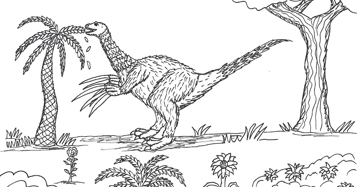 Robin S Great Coloring Pages Therizinosaurus Looking Like