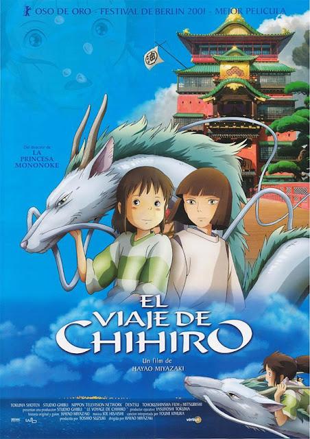 Cartel de la película El viaje de Chihiro del estudio japonés de animación Studio Ghibli