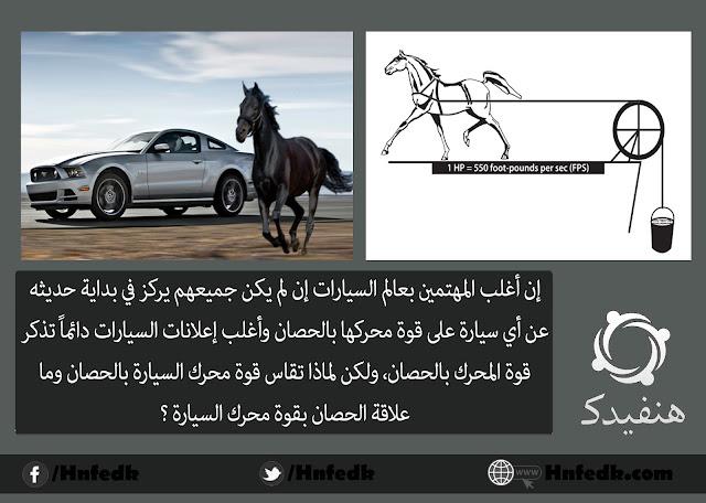 إستخدام مصطلح حصان لقياس قوة محرك السيارة
