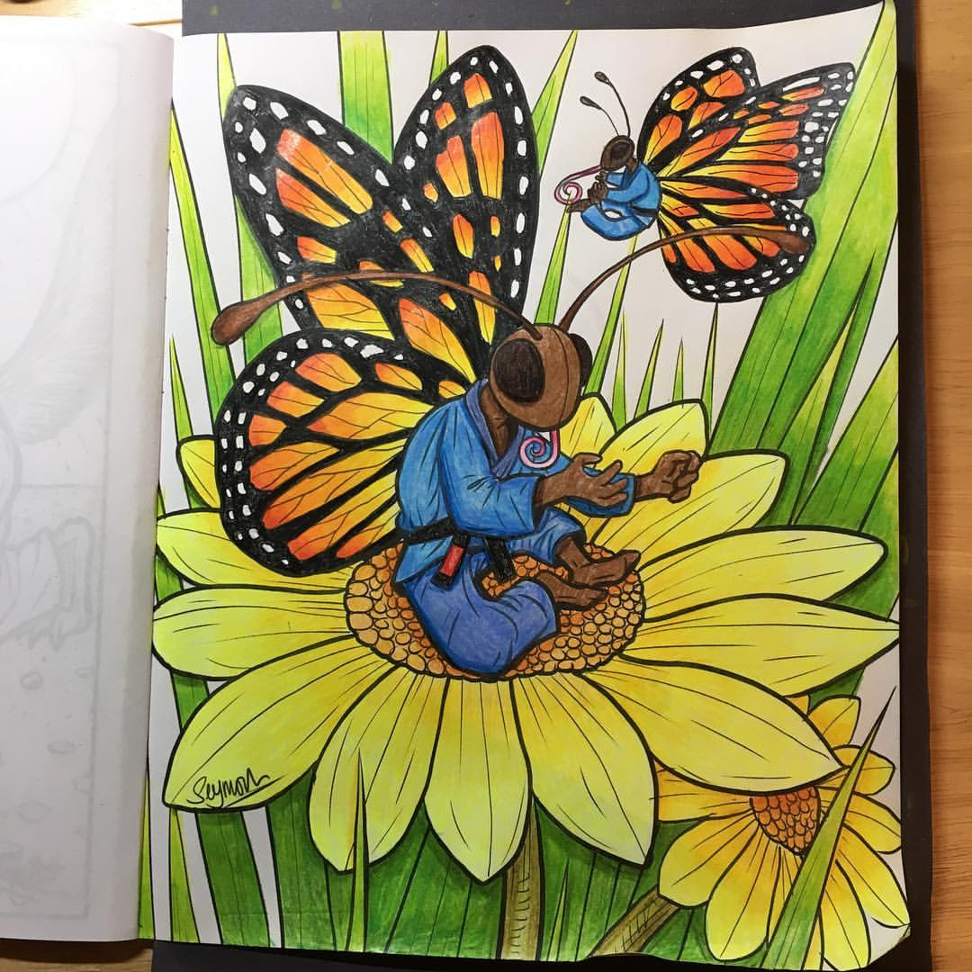 So I Sent A Copy Off To My Friend Pippa Granger Who Is Colouring Book Fanatic You Can See Couple Of Her Treatments Below