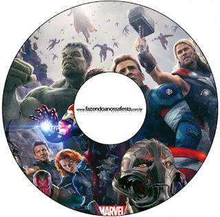 Etiquetas de Vengadores para CD's.