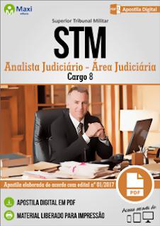 Apostila Concurso STM 2018 Analista Judiciário - Área Judiciária