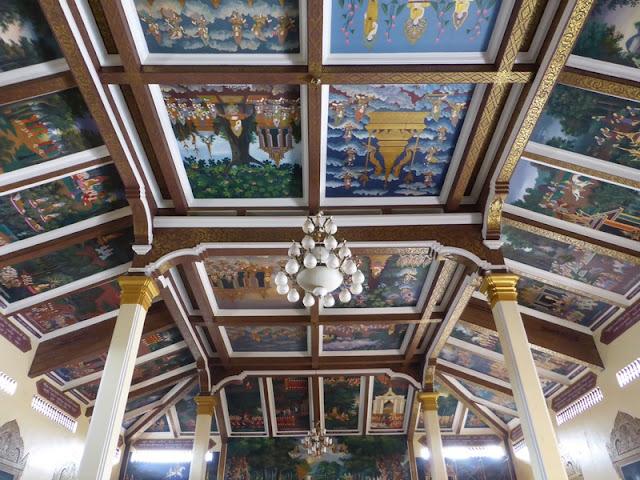 Decoración del techo del templo