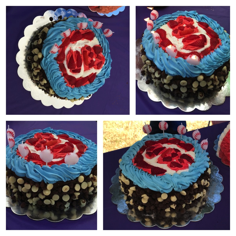 Awesome Codys Test Kitchen Chocolate Cake Perfect For A Cubs Fan In Funny Birthday Cards Online Ioscodamsfinfo