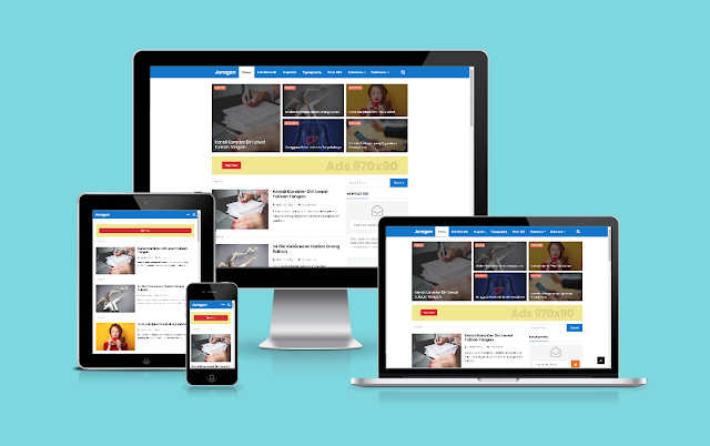 Easy Responsive Blogger Template Grid, Blogger Templates Html