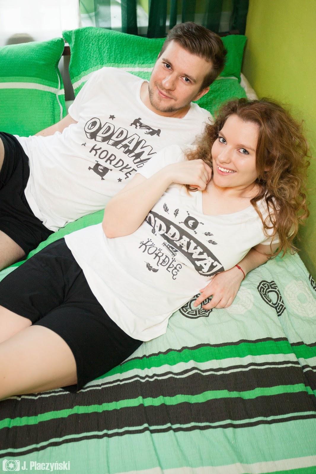 pizamki pizamy koszulove oddawaj kordle zabawne prezenty ubrania dla par