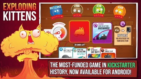Exploding Kittens – Official Apk Mod Free on Android Game Download