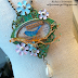 Die Cut Shrink Plastic Motif in Assemblage Jewelry Pendant Design