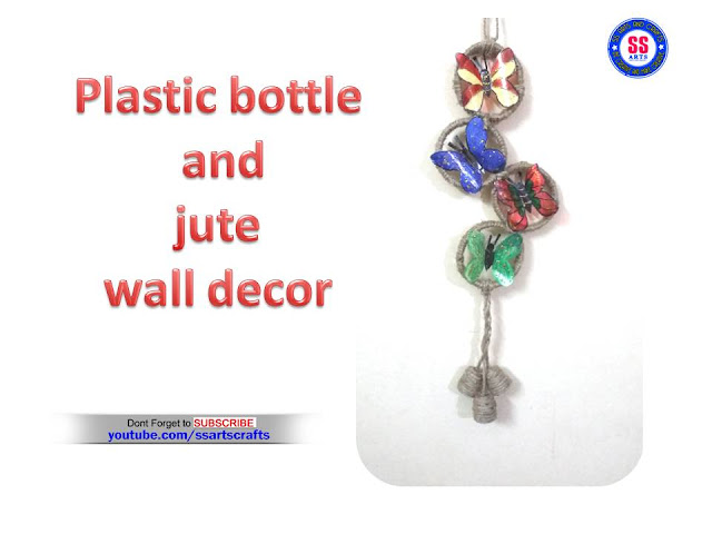 Here is plastic bottle wall decor ideas,plastic bottle turned into show piece,plastic bottle and jute wall show piece,plastic bottle room decor ideas,jute wall art,jute wall hanging ideas,jute hangings room decor ideas,plastic bottle show pieces,jute crafts for kids,plastic bottle and jute home decoration ideas,How to make plastic bottle and jute wall show piece ssartscrafts youtube channel videos