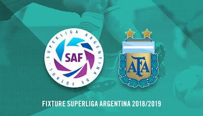 FIXTURE SUPERLIGA ARGENTINA 2018/2019