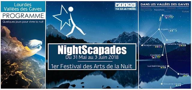 NightScapades Festival Lourdes 2018 le 1er Festival des Arts de la Nuit