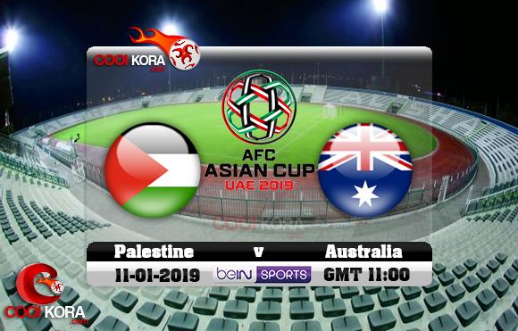 مشاهدة مباراة فلسطين وأستراليا اليوم كأس آسيا 11-1-2019 علي بي أن ماكس