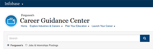 snapshot of Ferguson's web page.