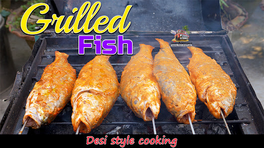 Grilled fish barbecue | Desi style |Sea food recipe